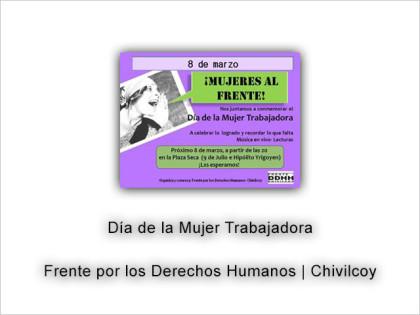"""El Frente por los DDHH organiza """"Mujeres al Frente"""""""