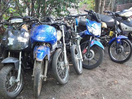 Secuestran diez motos y realizan un procedimiento antidrogas