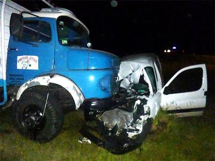 Camionero chivilcoyano involucrado en grave accidente