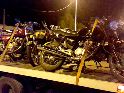La Policía Comunal secuestra 10 motos en varios operativos