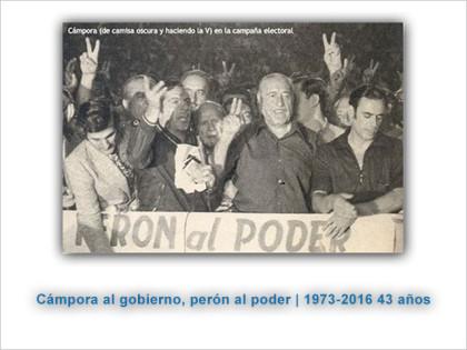 """A 43 años de """"Cámpora al Gobierno, Perón al poder"""""""