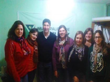 El Director de Seguridad Marcelo Loyola recibió al Bloque Feminista y su Comité de Asesoras