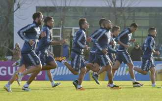 La Selección empezó sin Messi con los entrenamientos