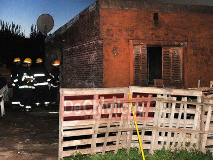 Incendio en una vivienda de Maipú 716