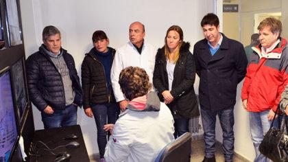 Diputados provinciales y concejales de Junín visitaron el Centro de Monitoreo (Hospital Chivilcoy)