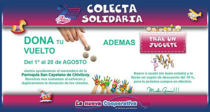 "Colecta solidaria de ""La nueva Cooperativa"""