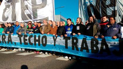 La CTA acompañó la marcha por Paz, Pan y Trabajo