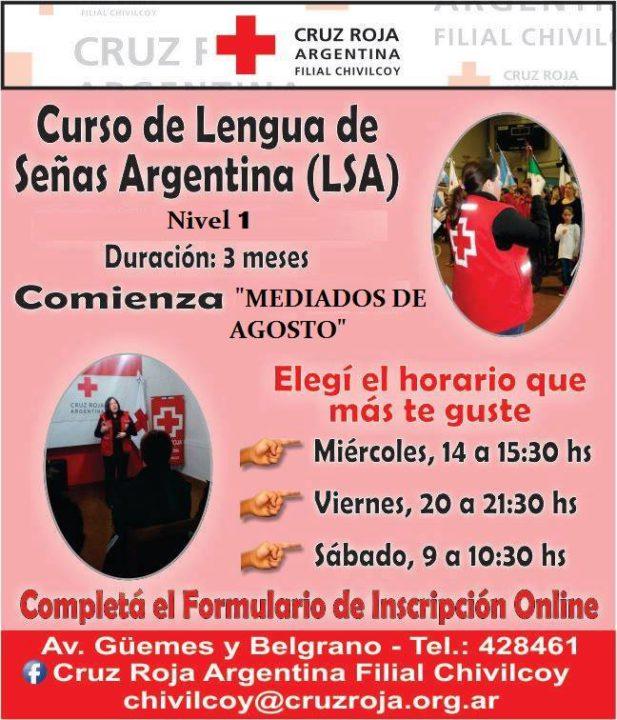 curso de Lengua de Señas Argentina