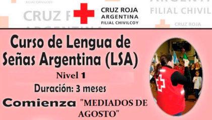 Cruz Roja Argentina Filial Chivilcoy dictará un curso de Lengua de Señas Argentina (LSA)