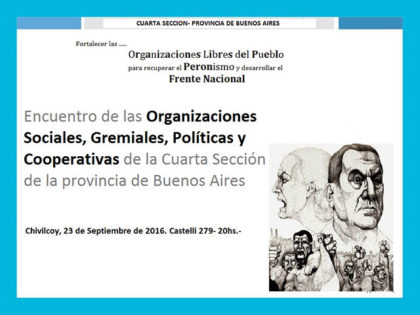 Encuentro de las Organizaciones Sociales, Gremiales, Políticas y Cooperativas