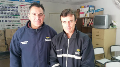 Inspectores Lucas Teijeiro y Pedro Míguez