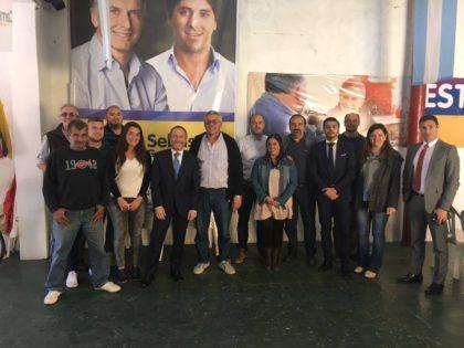 Cambiemos Chivilcoy  El Ministro Ferrari fue recibido por Oxandaberro en el local partidario