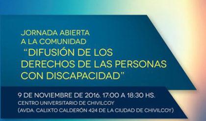 """Jornada abierta en el CUCH: """"Difusión de los derechos de las personas con discapacidad"""""""