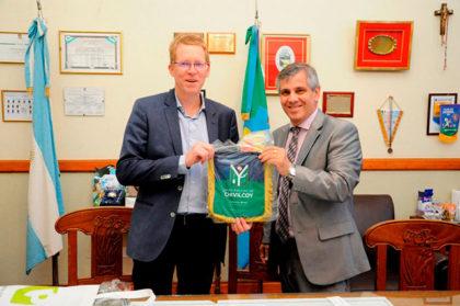 Guillermo Britos recibió a Juan Curutchet, presidente del Banco Provincia