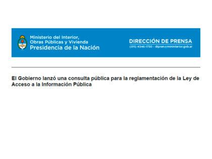 El Gobierno lanzó una consulta pública para la reglamentación de la Ley de Acceso a la Información Pública