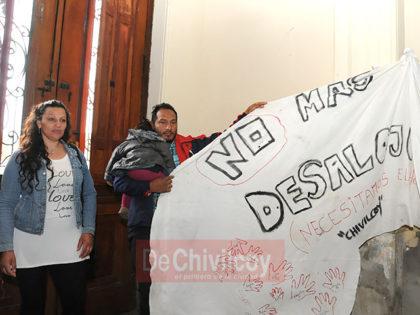 Ayer: Intensa jornada se vivió en el Palacio Municipal ante un inminente desalojo