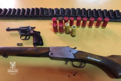 Secuestran armas de fuego en una causa por amenazas calificadas