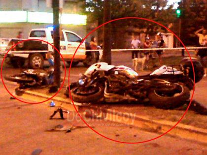 Grave accidente en Mitre y 84, dos personas heridas