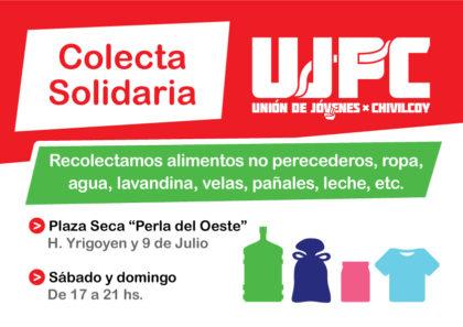 Unión de Jóvenes por Chivilcoy recolectará donaciones para San Nicolás