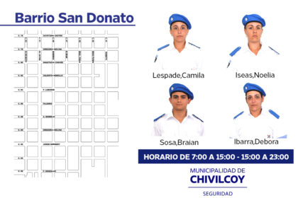 Policía Local:  Binomios barrio San Donato