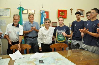 Britos recibió a la Selección Nacional U16 de básquet