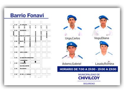 Policía Local: Barrio FO.NA.VI