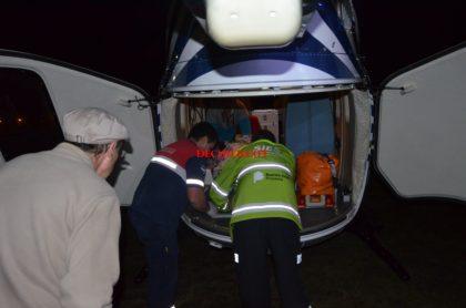 Hoy a la 1 am: Trasladan en vuelo sanitario a un nene de dos años con politraumatismo de cráneo severo