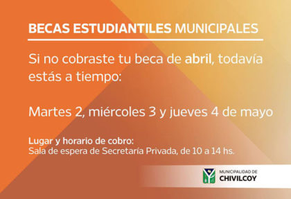 Cobro de becas municipales