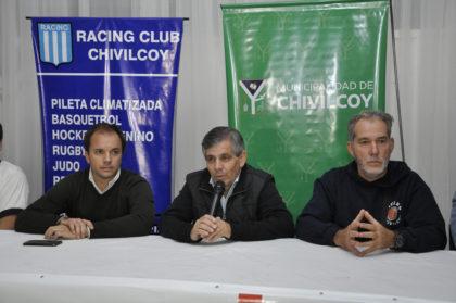 Britos participó de la presentación de los playoff en el Club Racing