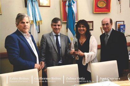 El Diputado Provincial Fabio Britos participó de una reunión con la Ministra de Salud Zulma Ortiz