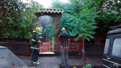 Zapiola 23: Incendio declarado en una vivienda de familia