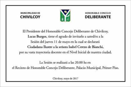 HCD: Mañana será declarada Ciudadana Ilustre Isabel Cerezo de Bianchi por su trayectoria docente