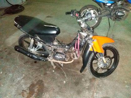 Aprehenden a una persona circulando en una motocicleta con la numeración del chasis adulterada
