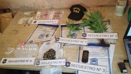 En un allanamiento secuestran drogas y detienen a una persona