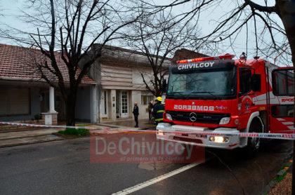 Principio de incendio en una vivienda de la familia Massolo [Video]