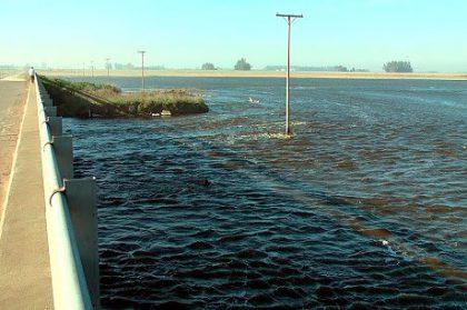 Alberti: El Río Salado sigue desbordado