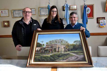 """La pintura """"El Recreo"""" formará parte del patrimonio chivilcoyano"""