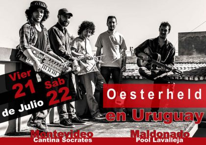 La banda chivilcoyana Oesterheld se presenta en Uruguay