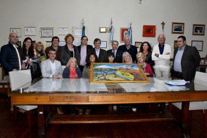 El Comité de los Italianos en el Extranjero fue recibido por el intendente