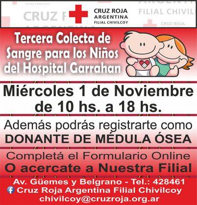 Cruz Roja Argentina: Colecta de Sangre para el Hospital Garrahan