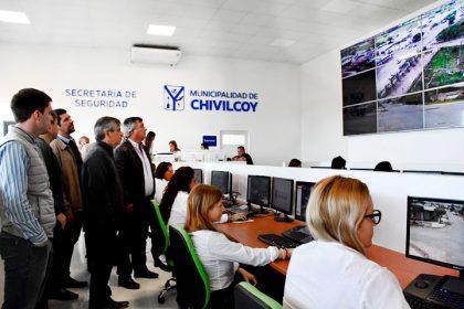 El intendente Britos y el diputado Selva recorrieron el Centro Multiagencia 911