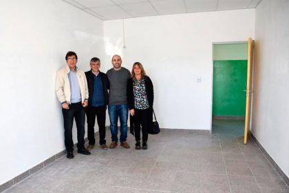 El intendente recorrió la finalización de la obra en la Escuela Anexo 31/11