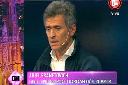 """Franetovich: """"Con Cristina no tenemos futuro, va a volver a ganar Macri"""", anticipan desde el randazzismo"""