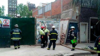 Dos muertos por un derrumbe en una obra en construcción en Villa Crespo