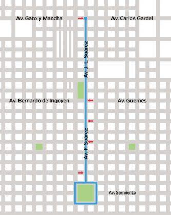 La Dirección de Tránsito comunica cortes de tránsito del domingo