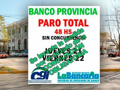 Banco Provincia: Conciliación obligatoria. Se agrava la situación con los trabajadores activos y jubilados