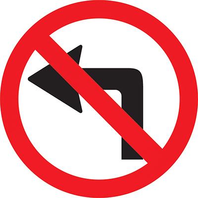 Prohibido girar a la izquierda en la Avenida Sarmiento