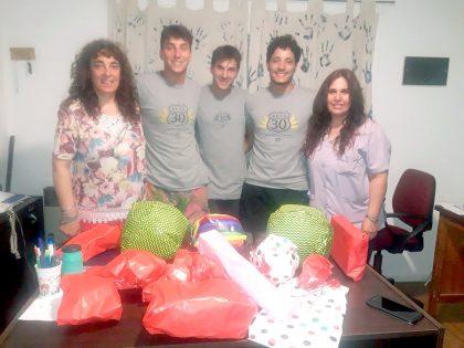 Ruta 30, Abrebar y Colón Café Bar donaron juguetes al Hogar de Abrigo municipal