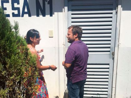 Ferro visitó la Escuela Agraria luego de que la institución sufriera hechos vandálicos