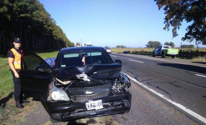 Accidente en Suipacha: Intervino una persona domiciliada en Chivilcoy